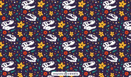 Diseño de patrón de cráneo de dinosaurio