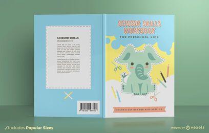 Diseño de portada de libro de habilidades de tijera