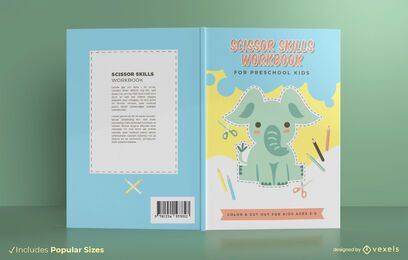 Scissor skills book cover design