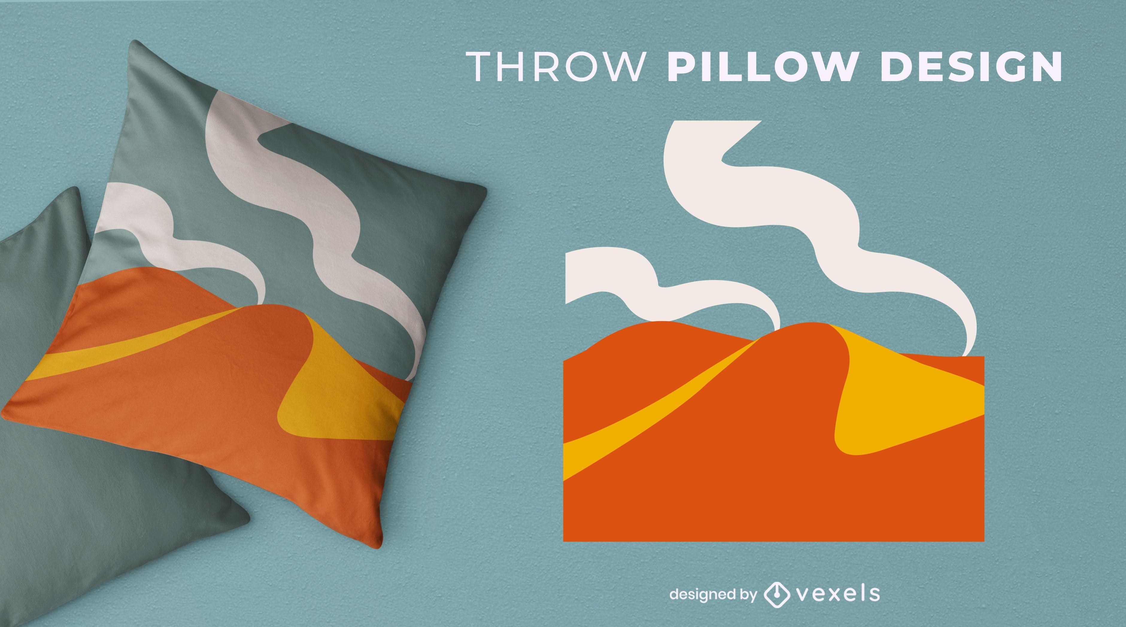Artistic throw pillow design
