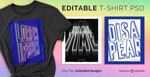 Geprägter Text skalierbares T-Shirt psd