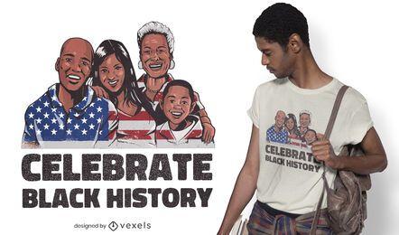 Design de camisetas da história negra