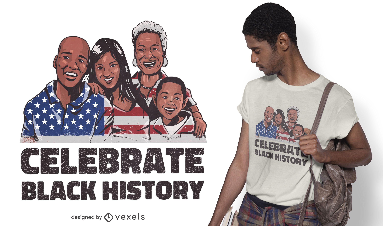 Black history t-shirt design