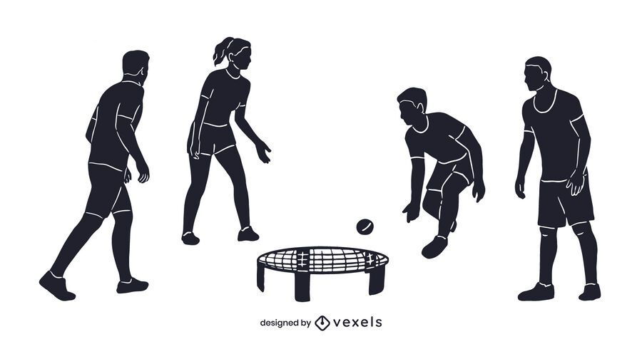 Spikeball cut out set