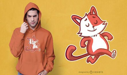 Diseño de camiseta de gato orgulloso