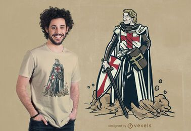 Diseño de camiseta de caballero serio