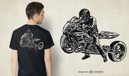 Drag bike t-shirt design