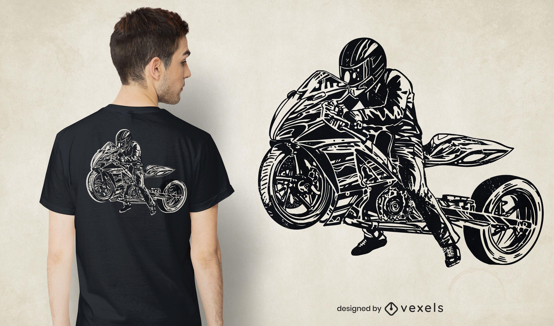 Diseño de camiseta drag bike