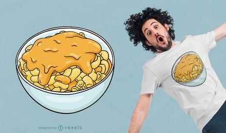 Diseño de camiseta de macarrones con queso