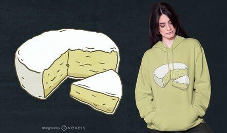 Diseño de camiseta de queso brie