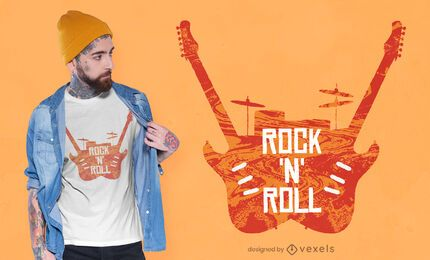 Diseño de camiseta rock 'n' roll