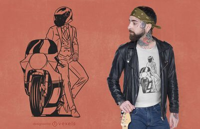 Gentleman Biker T-Shirt Design