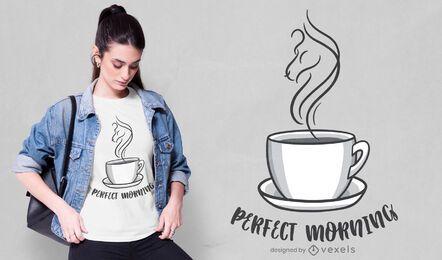 Design de t-shirt de manhã perfeita