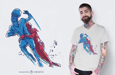 Diseño de camiseta de tackle de fútbol.