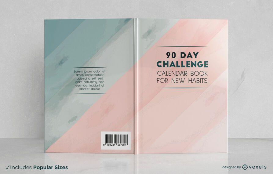 Diseño de portada de libro de desafío de 90 días