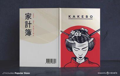 Diseño de portada de libro japonés Kakebo