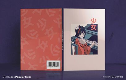 Piano anime book cover design