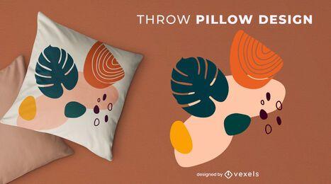 Diseño de almohada de tiro de naturaleza abstracta