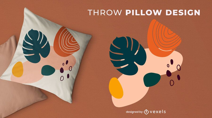 Abstract nature throw pillow design