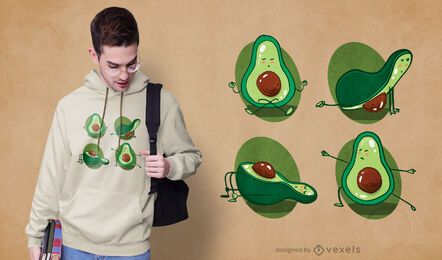 Avocado yoga t-shirt design