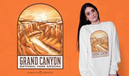Desenho de t-shirt com ilustração do Grand Canyon