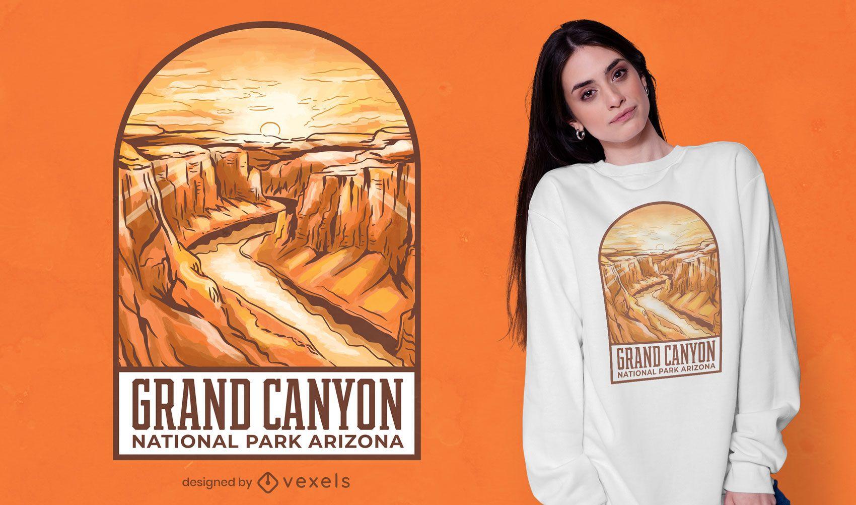 Dise?o de camiseta con ilustraci?n del Gran Ca??n