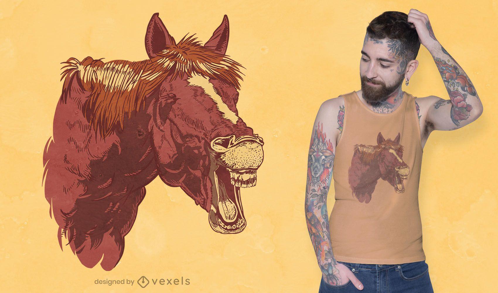 Horse neigh t-shirt design