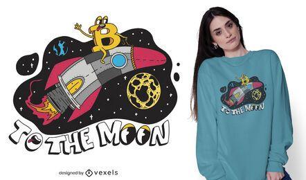 Diseño de camiseta Bitcoin rocker