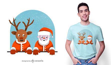 Linda camiseta de Santa