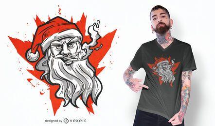 Design de camiseta do Papai Noel Mau