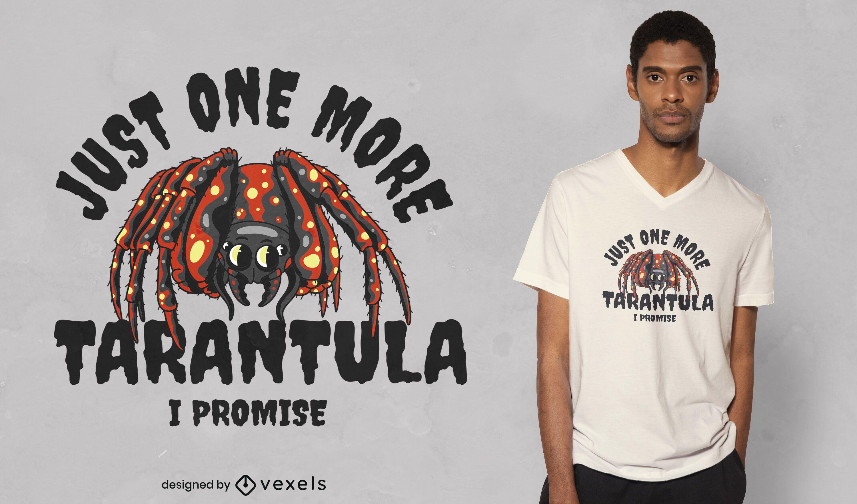 Un diseño de camiseta de tarántula más.