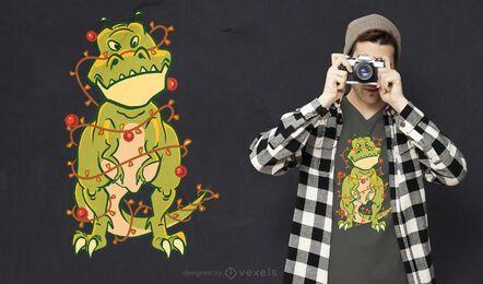 Diseño de camiseta enredada de T-Rex