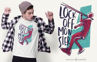 One arm lock off t-shirt design