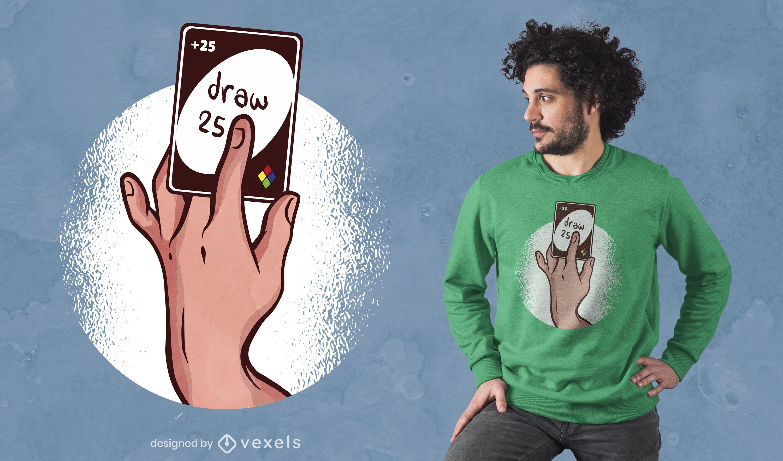Draw +25 t-shirt design