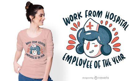 Diseño de camiseta de enfermera año nuevo.