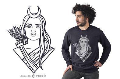 Diseño de camiseta Artemis