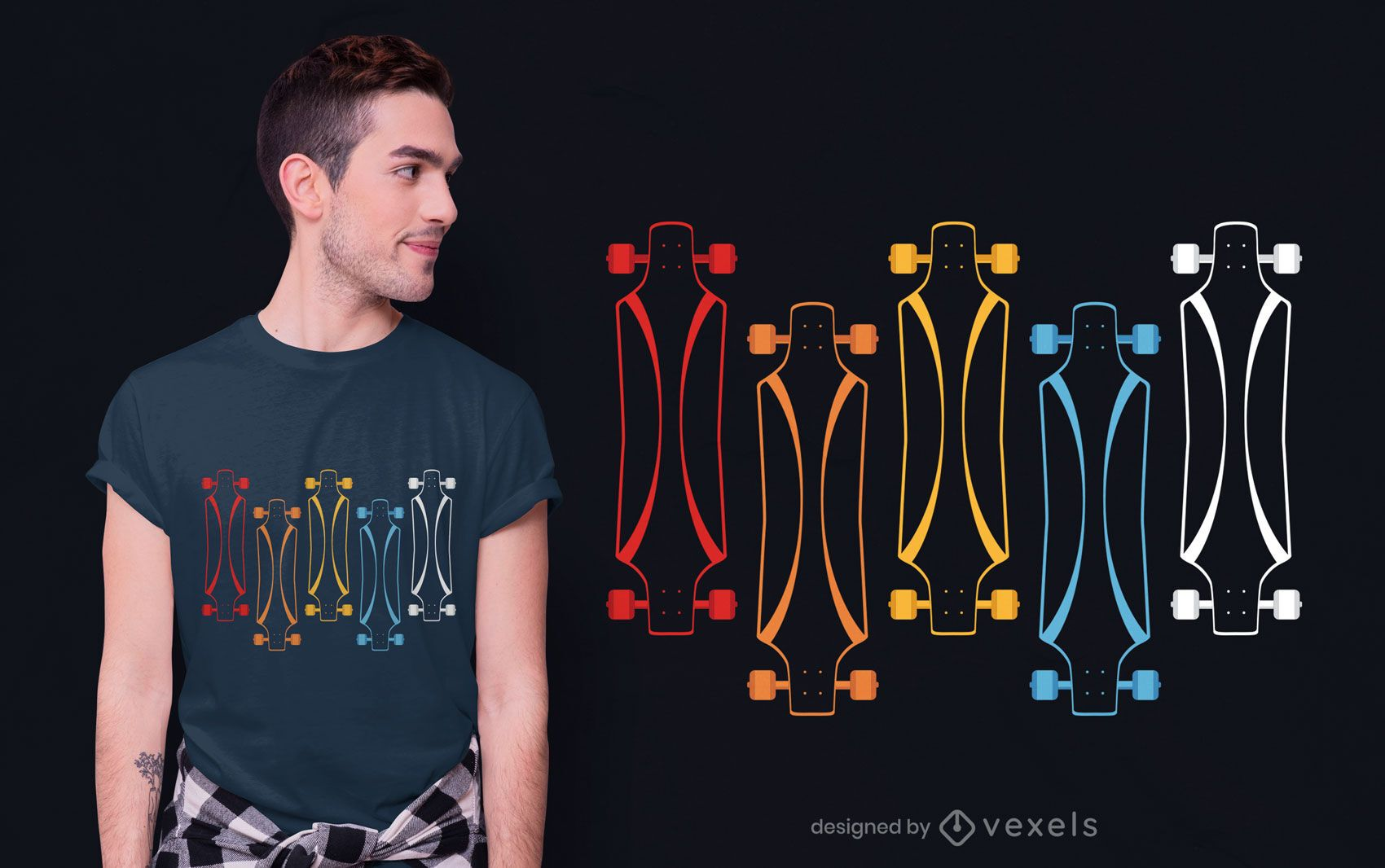 Longboards t-shirt design