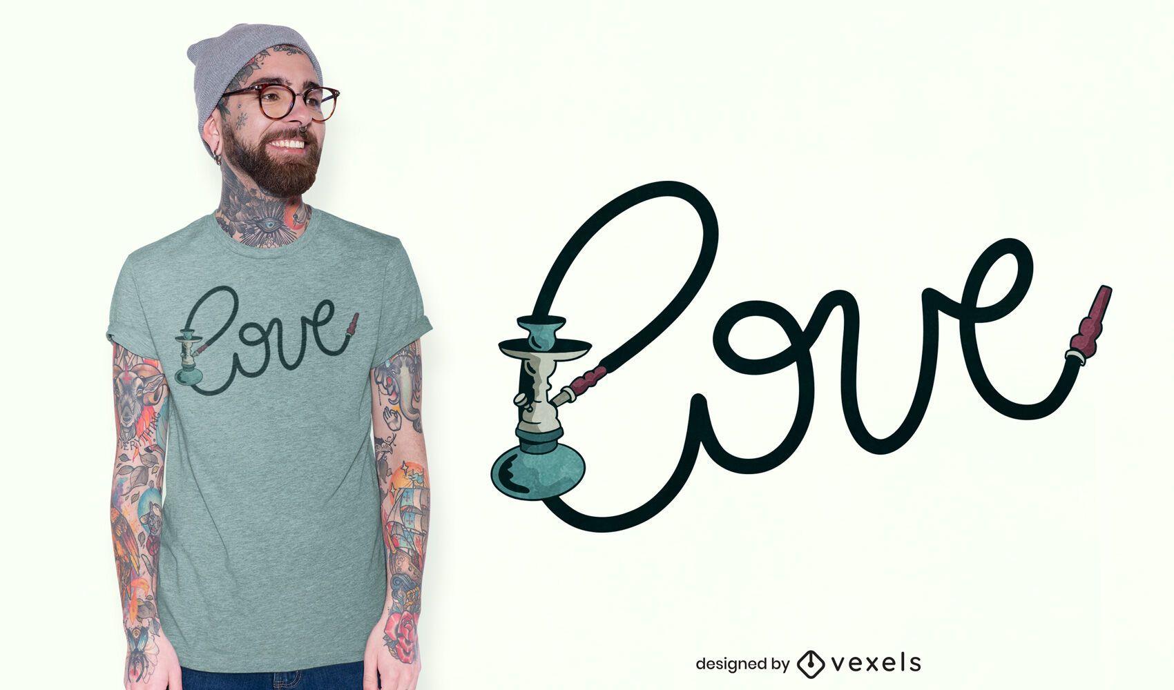 Hookah love t-shirt design