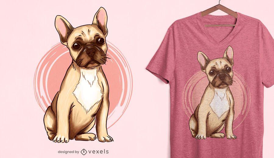 Französisches Bulldoggen-T-Shirt Design