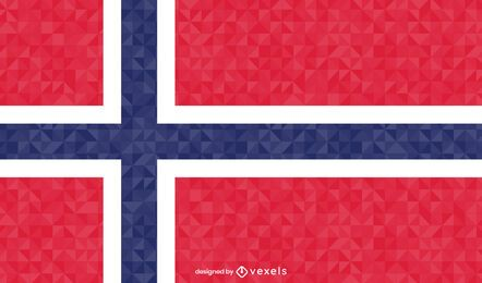 Norway flag polygonal design