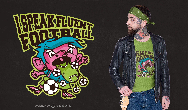 Fluent football t-shirt design