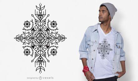 Design de t-shirt em formato berbere