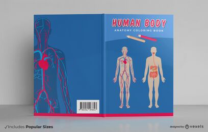 Human body book cover design