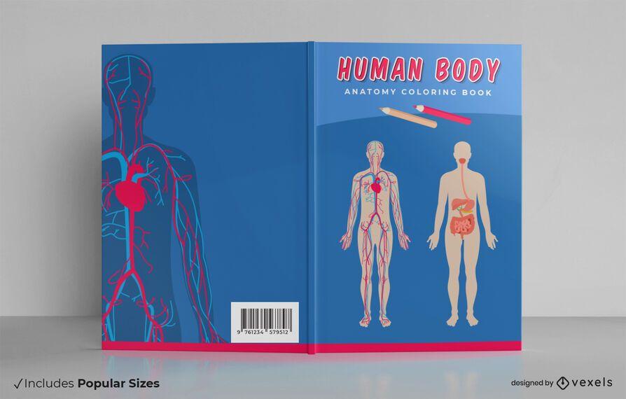 Design de capa de livro de corpo humano