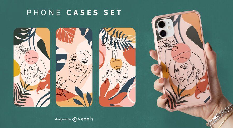 Nature women phone case set