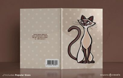 Design da capa do livro do gato siamês