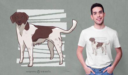Brown dog t-shirt design