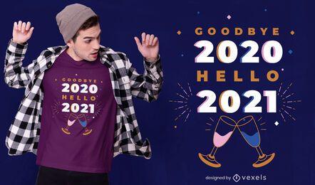 Adiós 2020 diseño de camiseta