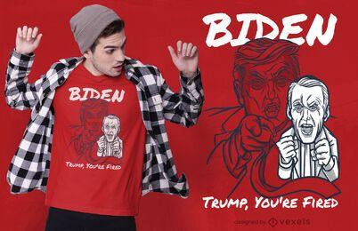 Design de camiseta disparada por Trump