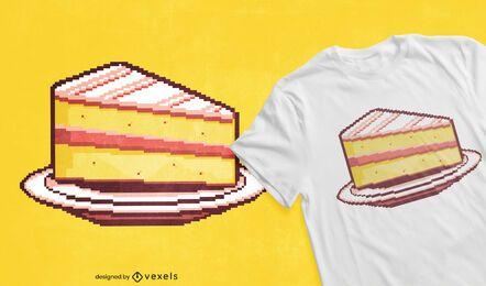Diseño de camiseta pixel cake